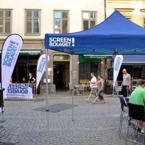 Tält för events reklamtält